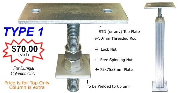 Scott Metals Products Adjustable Column Top Steel